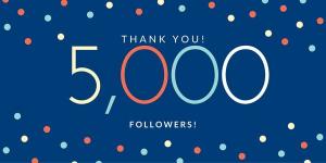 5000 followers on LinkedIn